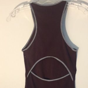 Lululemon cotton tank with back cutout, size 2